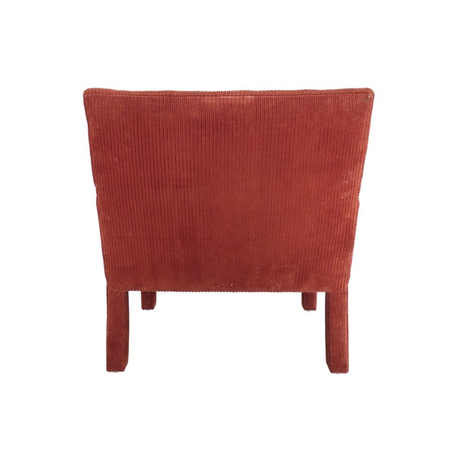1970s Milo Baughman-Style Corduroy Armchair - Pair For Sale In New York - Image 6 of 10