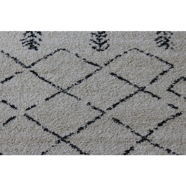 Contemporary Plush Rug with Moroccan Design - 8' x 11' - Image 4 of 9