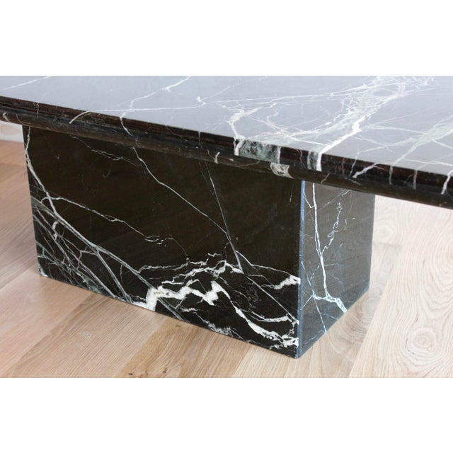 Green Sculptural Mid-Century Italian Vert d'Egypt Green Marble Pedestal Coffee Table For Sale - Image 8 of 13