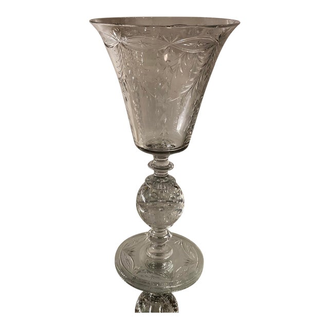 Antique Art Deco Pairpoint Crystal Chalice For Sale
