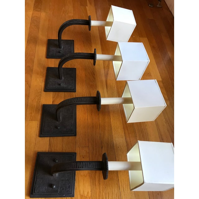 Metal Paul Ferrante Wall Sconces - Set of 4 For Sale - Image 7 of 10