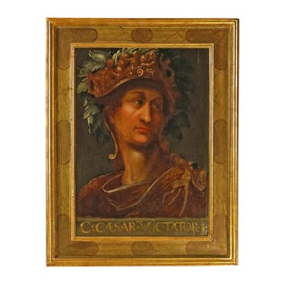 19th Century Grand Tour Caesar Oil Painting on Wood For Sale