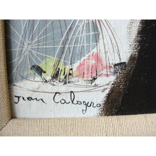 """Jean Calogero Oil Painting """"Patrizia"""" (Signed) For Sale In New York - Image 6 of 9"""