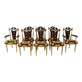 1990s Vintage Versace Dining Chairs- Set of 8 For Sale