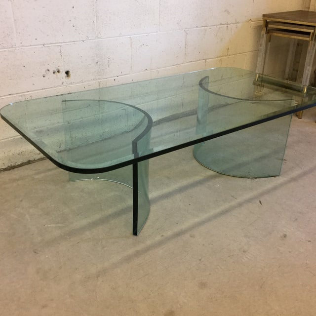 Pace Style Contemporary Thick Glass Coffee Table Chairish
