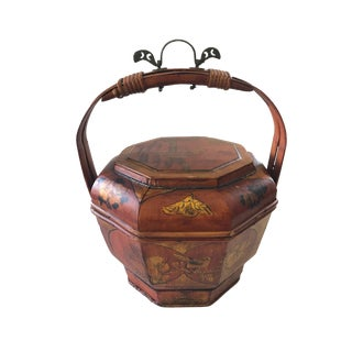 Old Chinese Food Basket Picnic For Sale