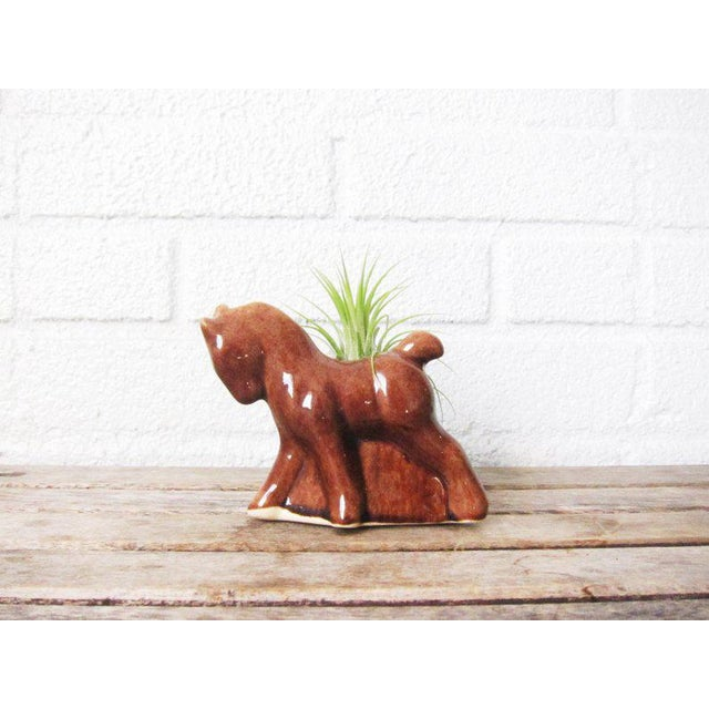 Ceramic Vintage Mid Century Horse Planter For Sale - Image 7 of 8