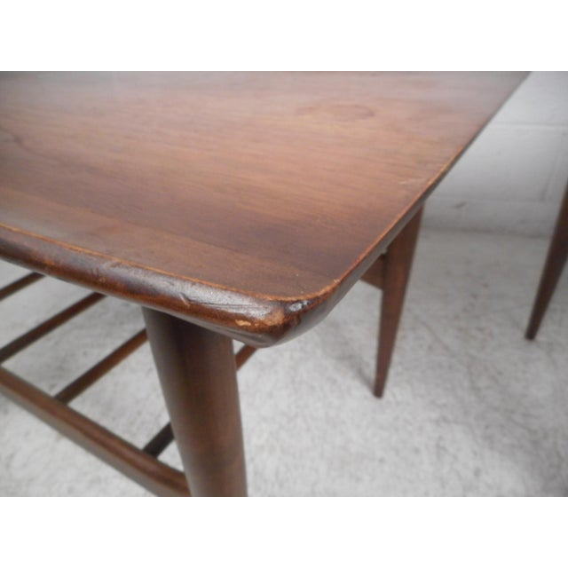 Brown Surfboard Side Tables by Bassett Furniture Co., a Pair For Sale - Image 8 of 13