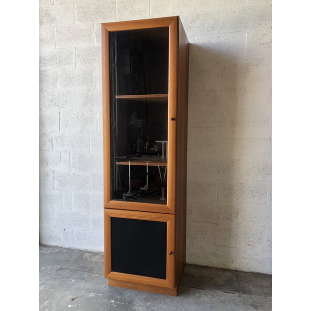 1980s Vintage Danish Modern Style Curio China Display Cabinet. For Sale - Image 5 of 13