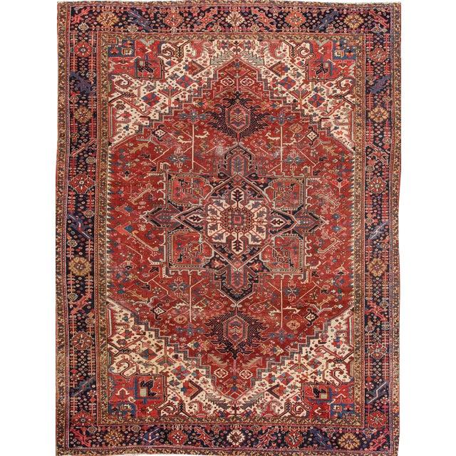 "Apadana - Vintage Persian Rug, 9'3"" x 12'7"" For Sale"