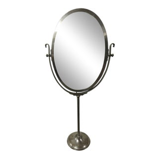 20th Century Modern Cosmetic Store Metal Swivel Mirror