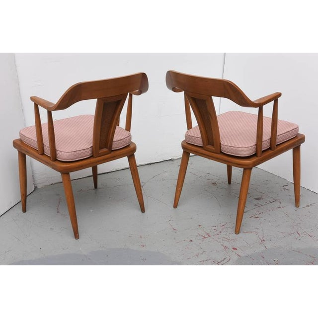 Mid-Century Modern Tomlinson of High Point, Set of Four Dining Chairs, USA, 1957 For Sale - Image 3 of 10