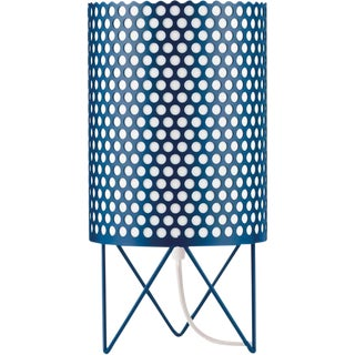 Mid-Century Modern Joaquim Ruiz Millet Blue Aluminum 'Abc' Table Lamp