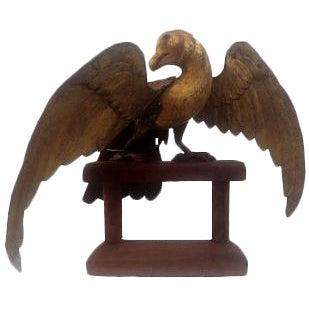 Hand-Carved Folk Art Eagle For Sale