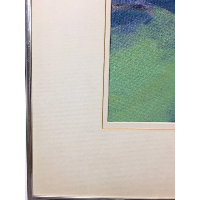 Jane Heller Vintage Mid Century Modern Abstract Expressionist Oil Painting For Sale - Image 9 of 11