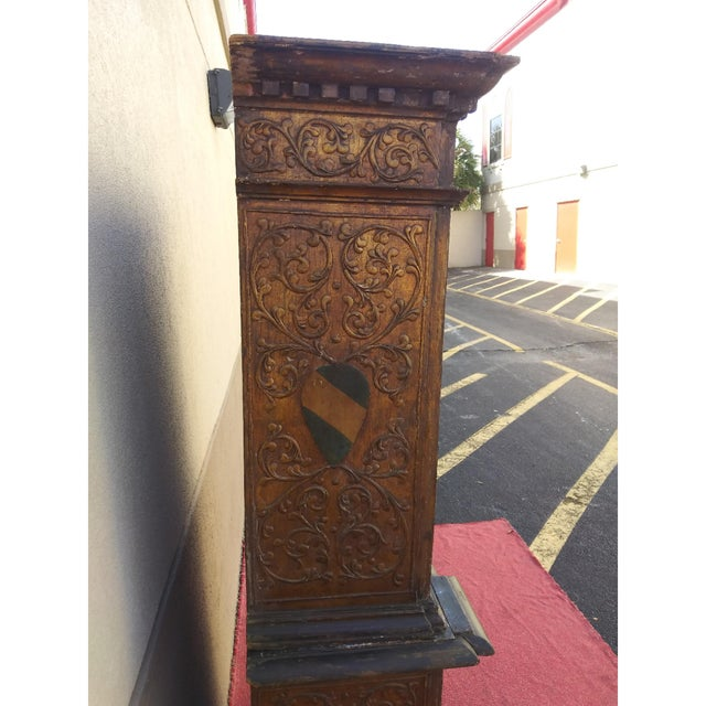 Gold 19th Century Italian Hand Painted Polychromed Giltwood Claw Footed 2 Piece Cupboard For Sale - Image 8 of 13