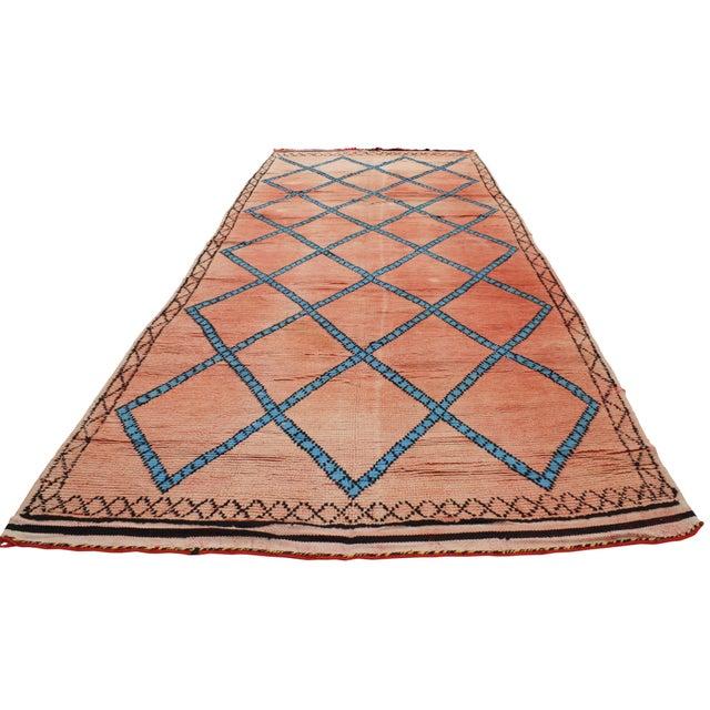 Vintage Moroccan Berber Modern Tribal Style Gallery Rug - 5′7″ × 13′3″ - Image 3 of 7