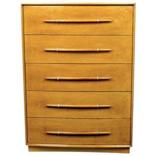 T. H. Robsjohn-Gibbings Tall Walnut Dresser for Widdicomb For Sale