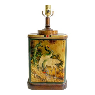 Fredrick Cooper Vintage Crane Tea Caddy Lamp
