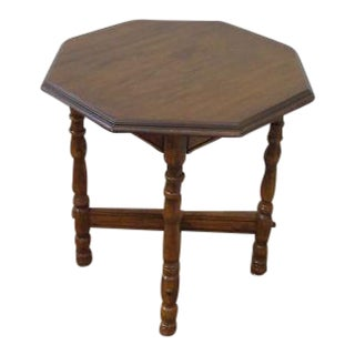 Traditional Carved Cherry End Table
