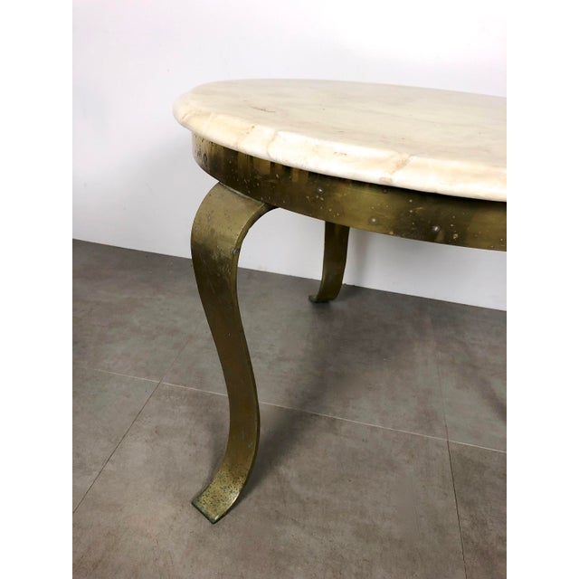 Black Pair Muller's Onyx & Brass End Tables, 1960's For Sale - Image 8 of 11