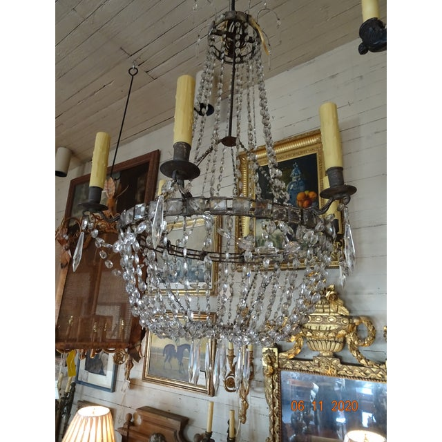 18th Century Empire Crystal Chandelier For Sale - Image 12 of 13