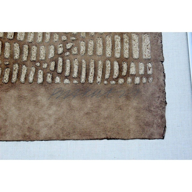 Mid Century Modern Framed Textured Paul Maxwell Lithograph Signed Numbered 47/75 For Sale In Detroit - Image 6 of 7