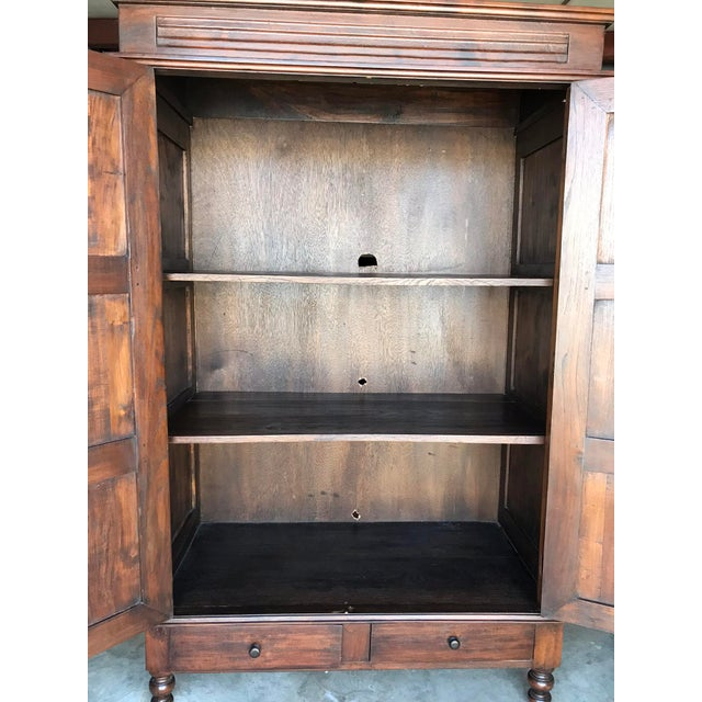 Large Teak Armoire For Sale - Image 9 of 13