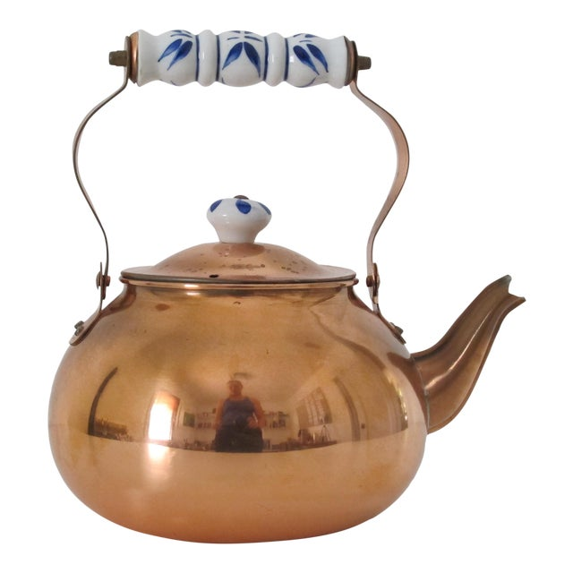 Traditional Copper Teapot - Image 1 of 4