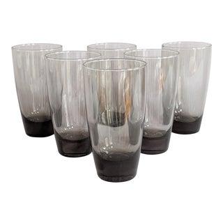 Smoke Gray Highball Glasses - Set of 8 For Sale