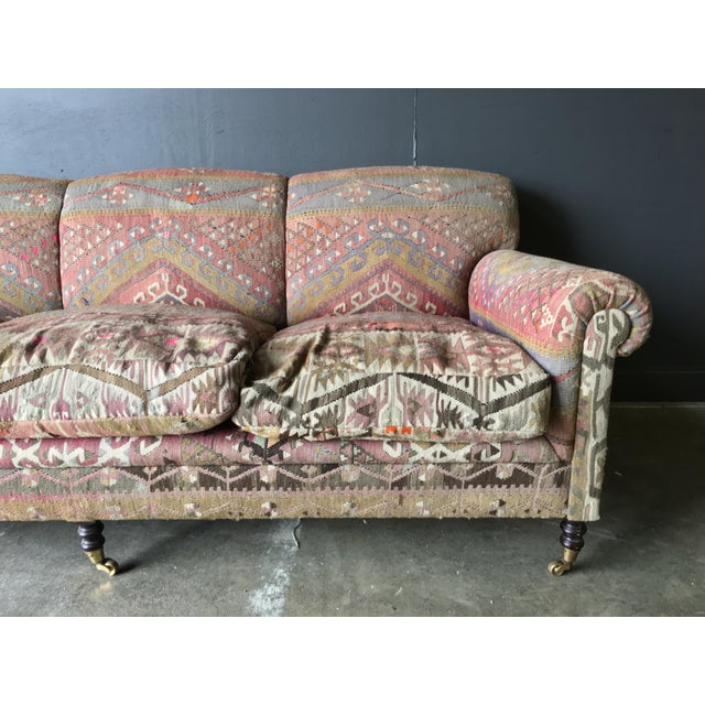 George Smith Roll Arm Kilim Sofa For Sale In New York - Image 6 of 8