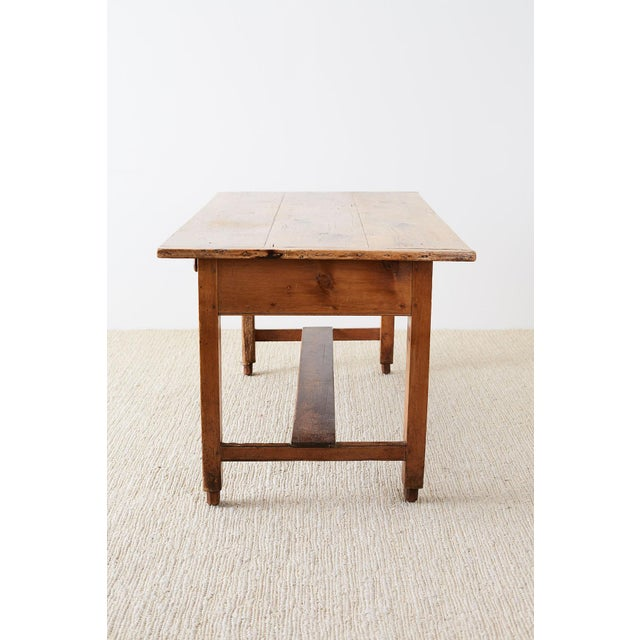 Pine Rustic English Pine Library Table or Farm Table For Sale - Image 7 of 13