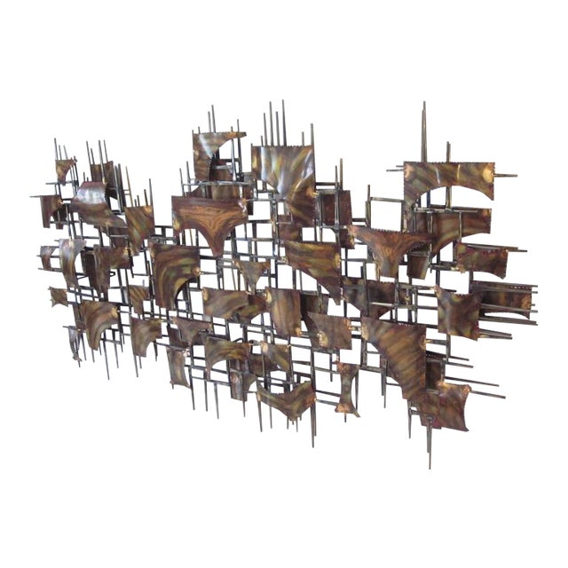 Silas Seandel Styled Large Brutalist Wall Sculpture For Sale