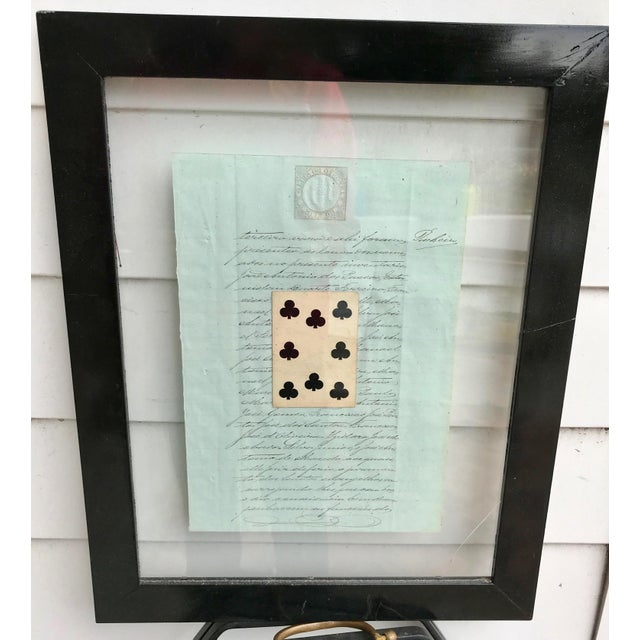 Early 20th Century Antique French Letters and Playing Card Collage For Sale In Los Angeles - Image 6 of 13