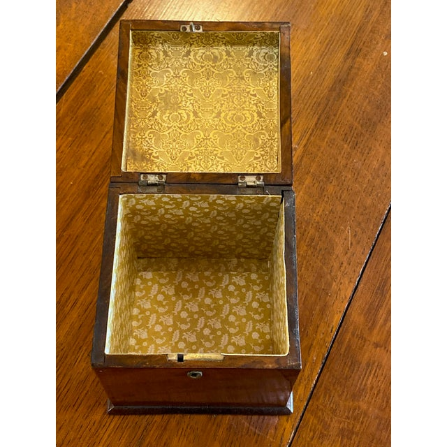 Antique Mahogany Tea Caddy For Sale - Image 4 of 7