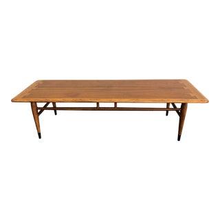 Vintage Mid Century Modern Lane Acclaim Walnut Coffee Table For Sale
