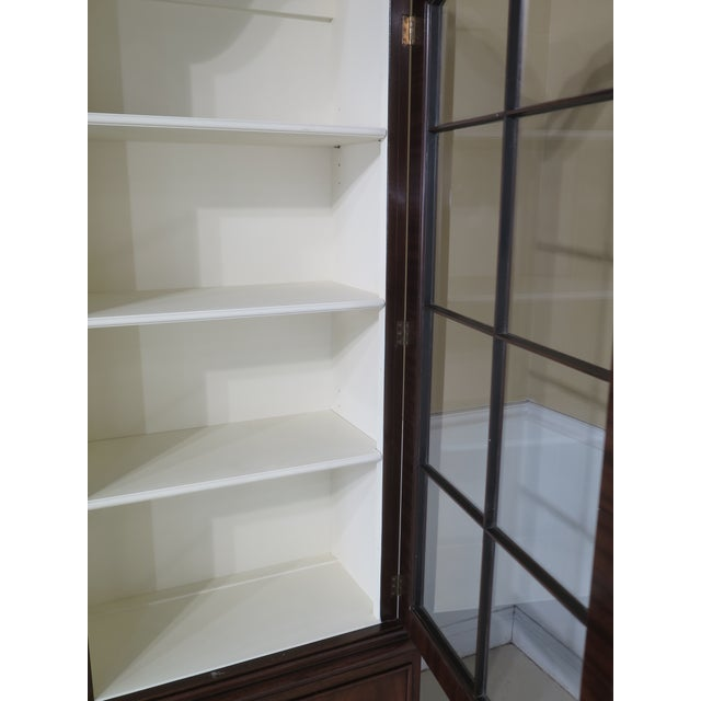 Mahogany Kittinger Mahogany Bookcase Display Cabinet For Sale - Image 7 of 11