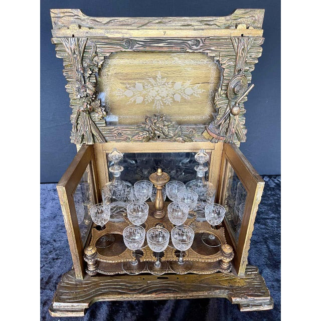 19th Century Black Forest Tantalus Bar For Sale In New York - Image 6 of 13