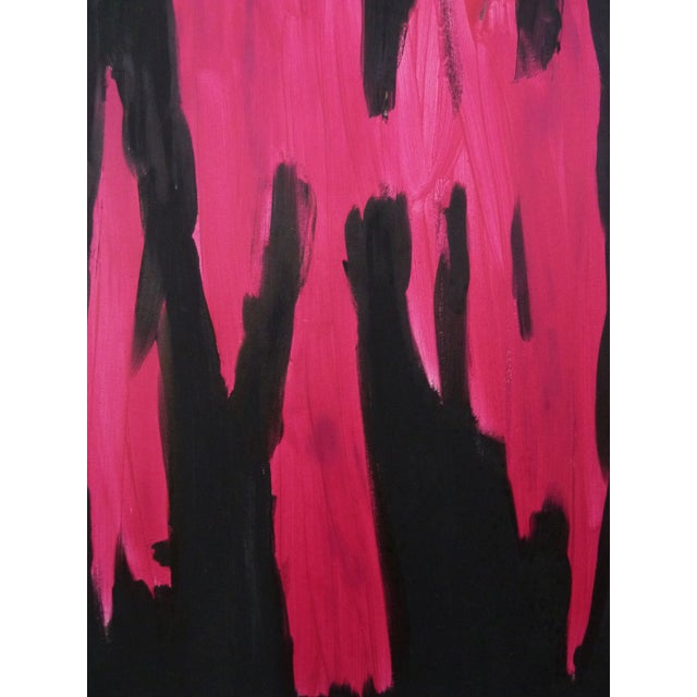 Black & Pink Expressionist Painting by Miripolsky - Image 3 of 4