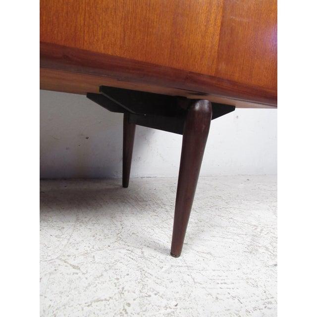 Compact Scandinavian Modern Teak Cabinet For Sale In New York - Image 6 of 13