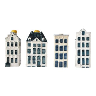 Vintage Klm Delft House Liquor Bottle Figurines - Set of 4 For Sale