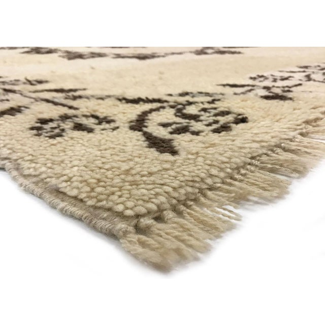 1970s Vintage Turkish Tulu Carpet. Hand woven with Angora wool on wool kilim foundation in the Konya region of central...