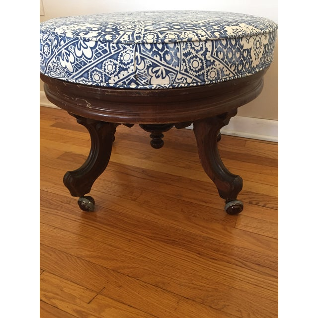 Ralph Lauren Upholstered Antique Ottoman For Sale - Image 10 of 11