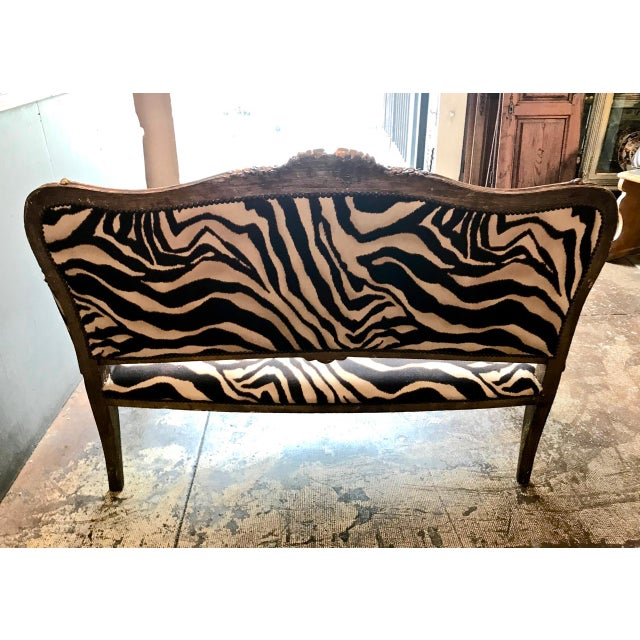 Carved Giltwood Small Sofa, 19th Century For Sale - Image 10 of 13