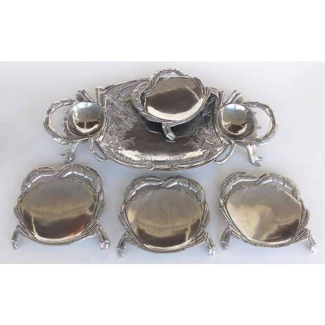 Arthur Court Crab & Lobster Serving Tray W/ Crab Plates - Set of 5 For Sale - Image 12 of 13