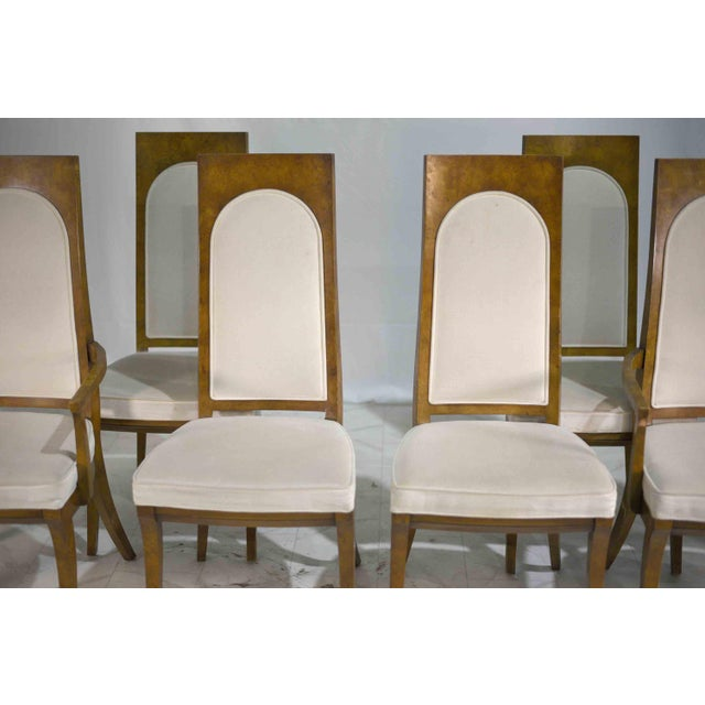 1960s Hollywood Regency Amboyna Wood Dining Chairs by Mastercraft - Set of 6 For Sale - Image 9 of 13