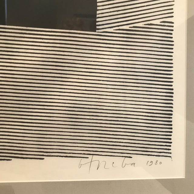 Modern 1980 Geometric Modern Lithograph For Sale - Image 3 of 7