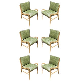 Set of Six John Keal for Brown Saltman Dining Chairs For Sale