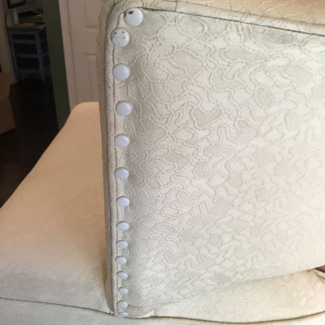 1950s Mid-Century Modern Padded Channel-Backed Club Chair For Sale In Baltimore - Image 6 of 9