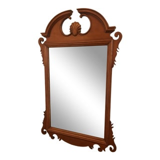20th Century Vintage Queen Anne Style Framed Mirror For Sale